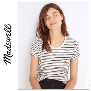MADEWELL THIS OR THAT STRIPED T SHIRT